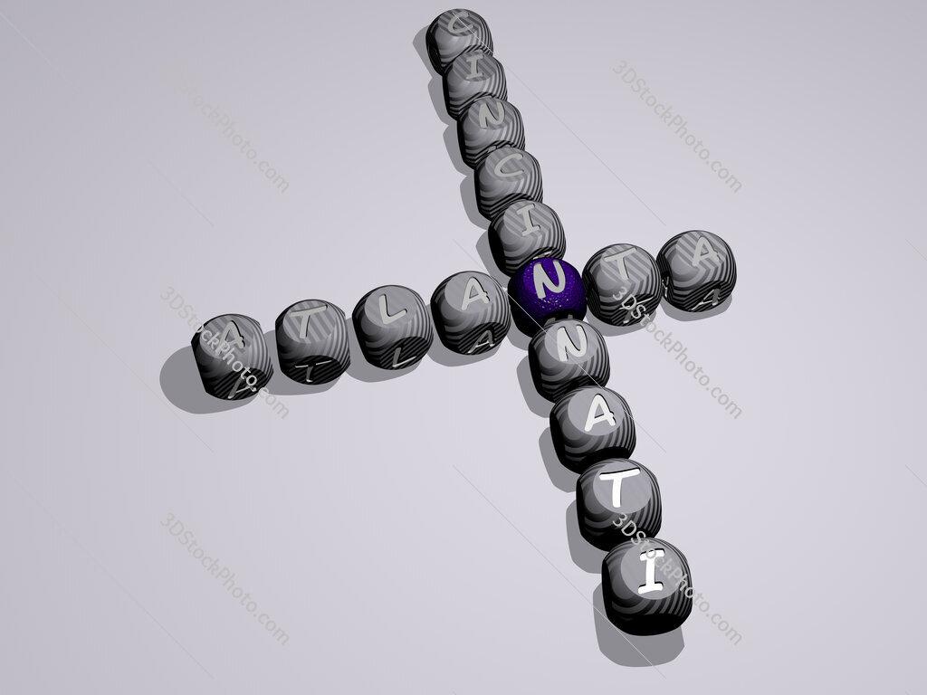 atlanta cincinnati crossword of dice letters in color