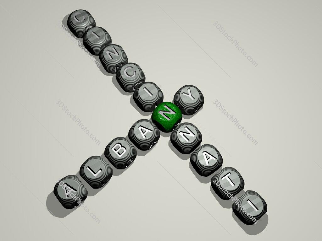 albany cincinnati crossword of dice letters in color