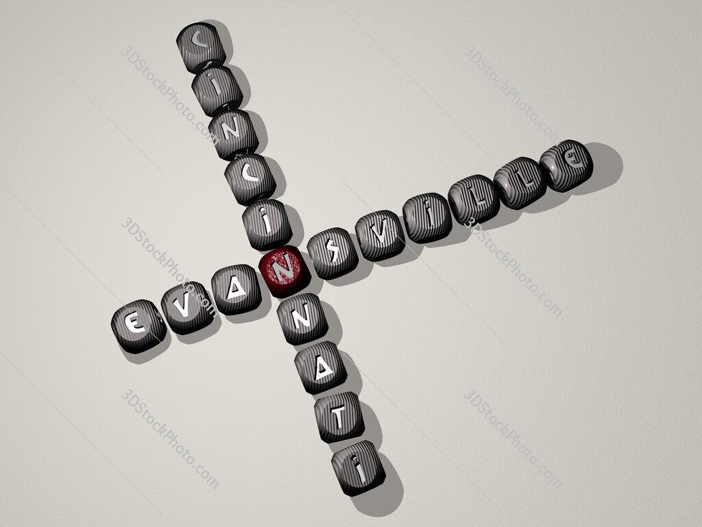 evansville cincinnati crossword of dice letters in color