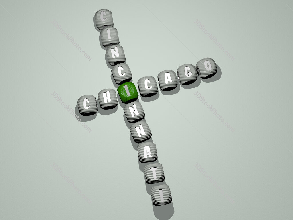 chicago cincinnati crossword of dice letters in color
