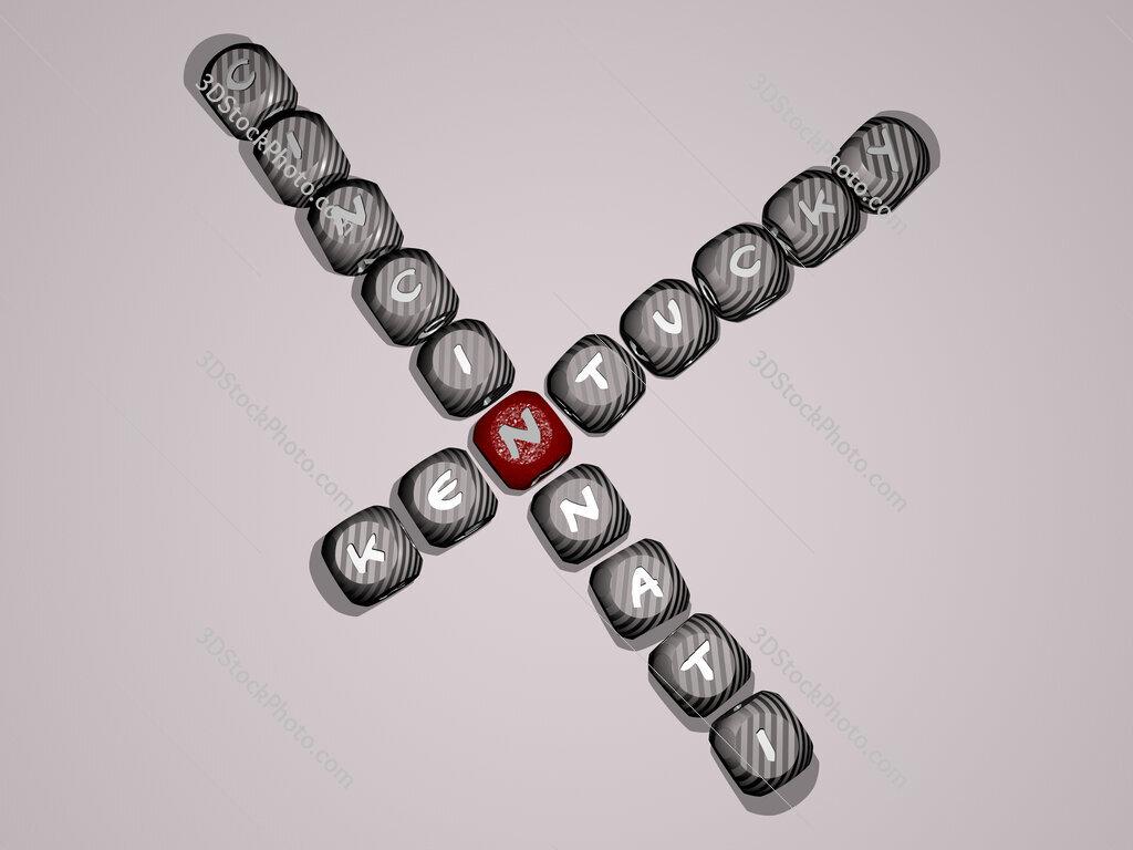 kentucky cincinnati crossword of dice letters in color