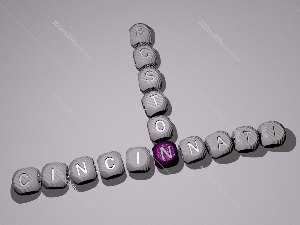 cincinnati boston crossword of dice letters in color