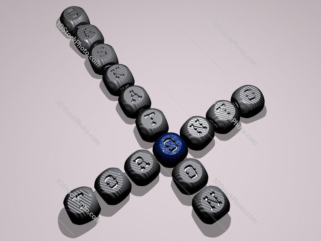 toronto saskatoon crossword of dice letters in color