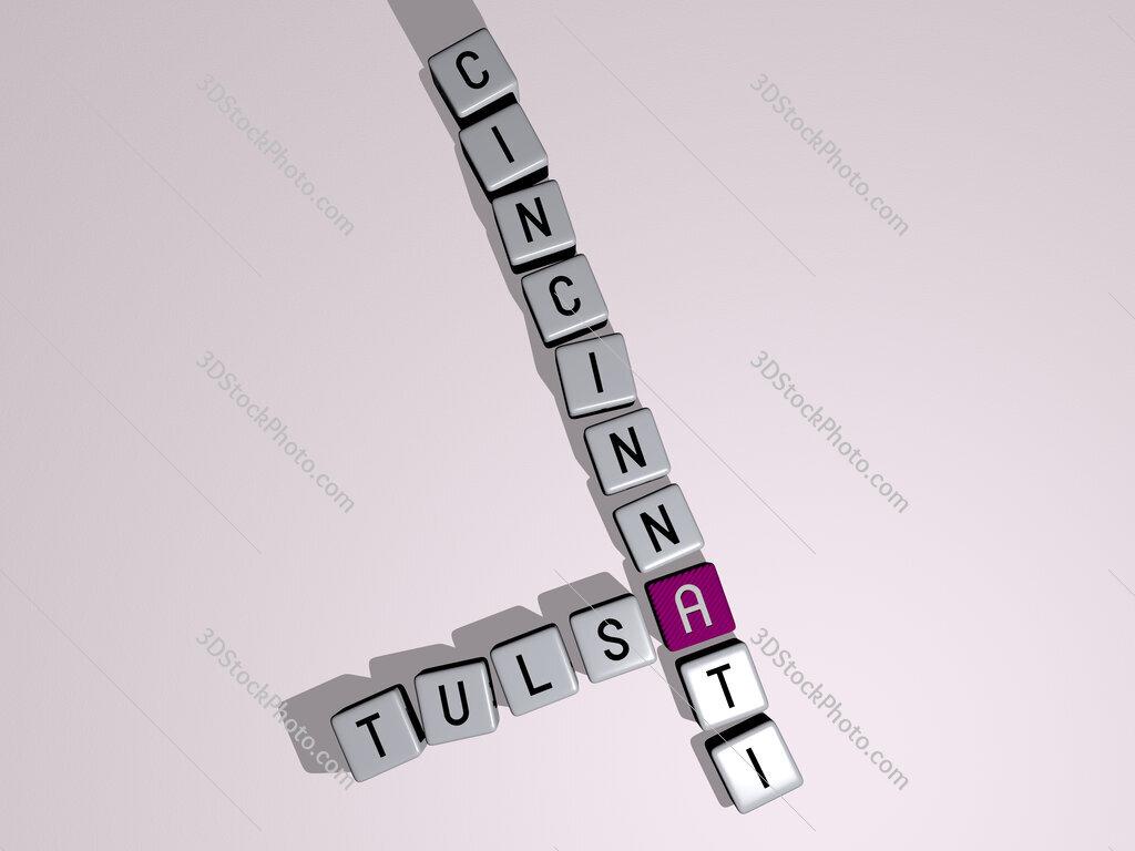 tulsa cincinnati crossword by cubic dice letters