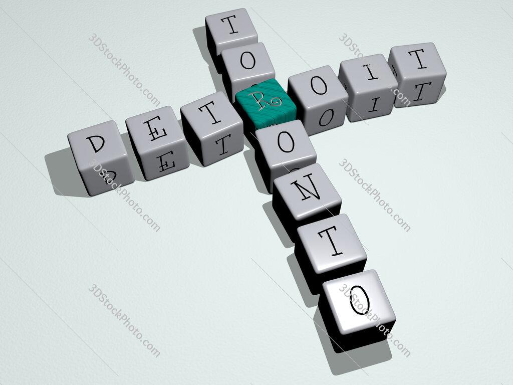 detroit toronto crossword by cubic dice letters