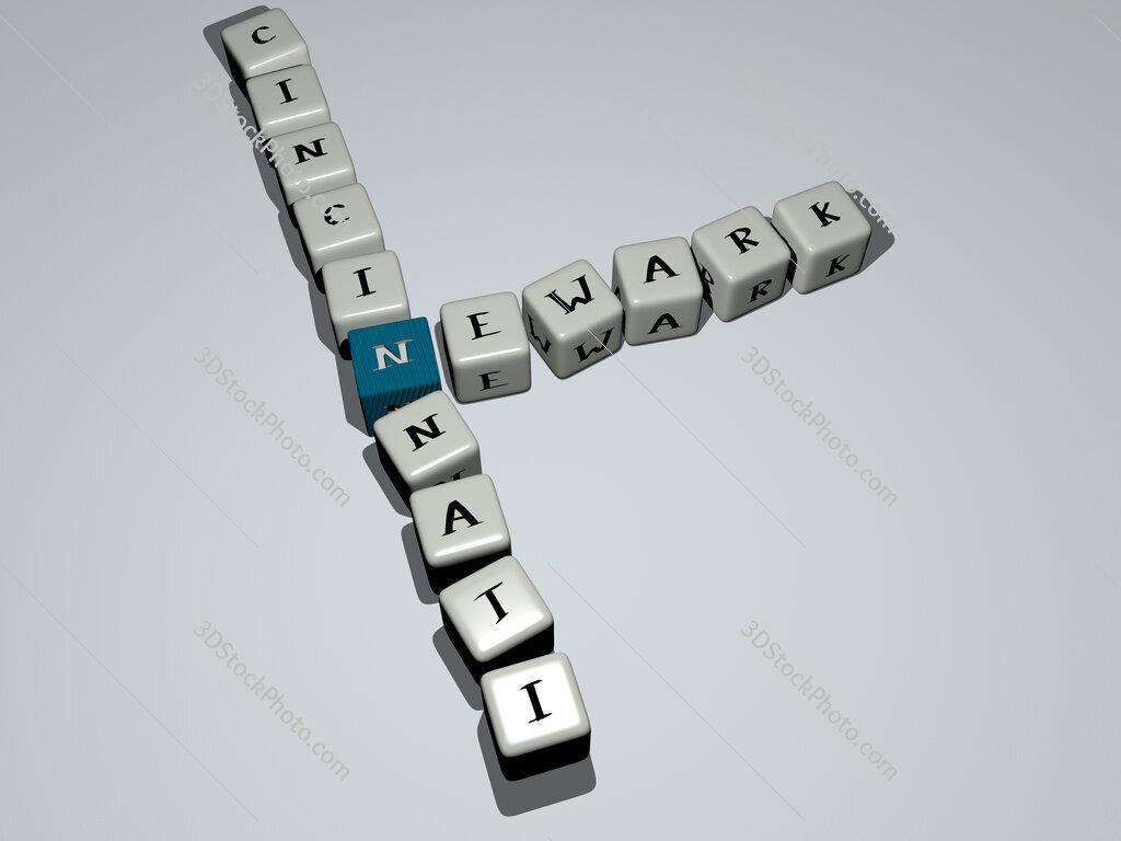 newark cincinnati crossword by cubic dice letters