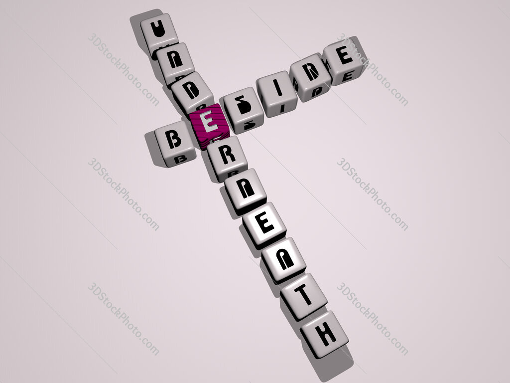 beside underneath crossword by cubic dice letters