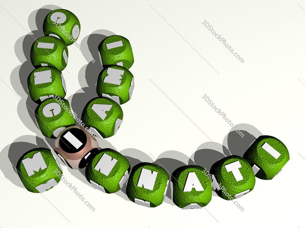 miami cincinnati curved crossword of cubic dice letters