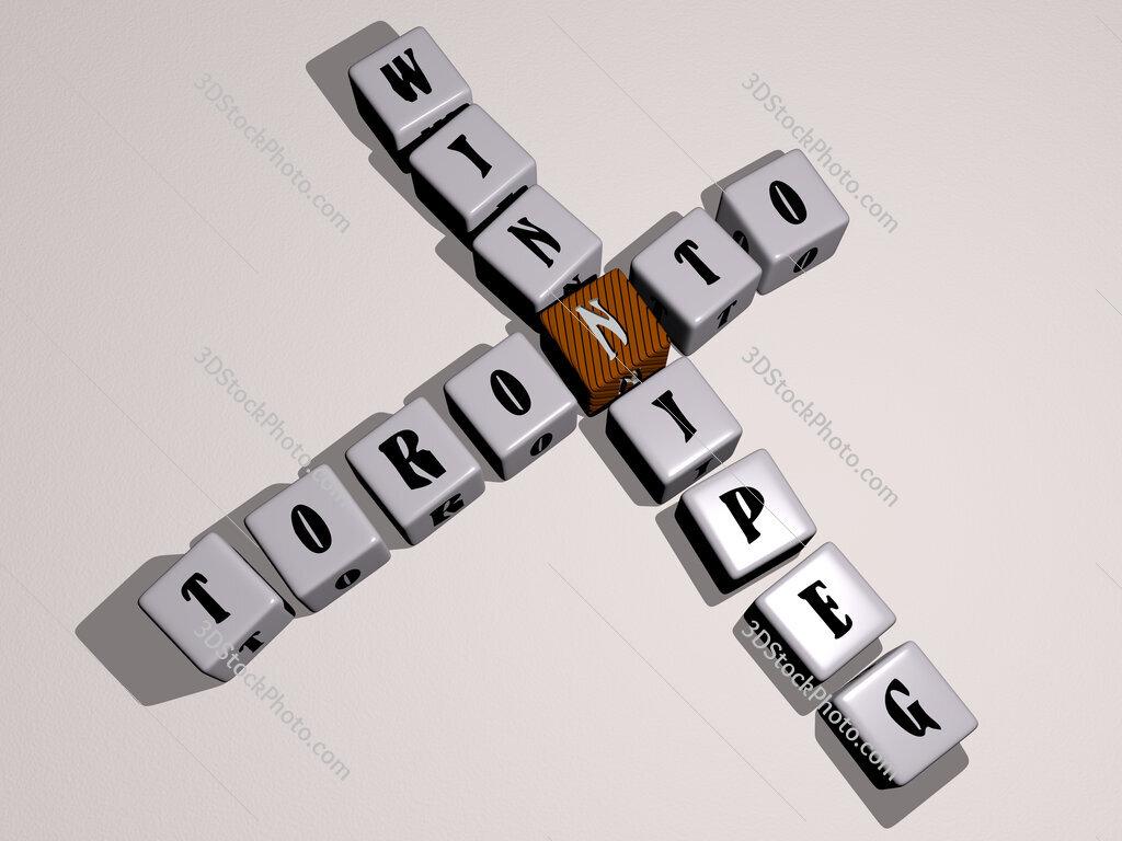 toronto winnipeg crossword by cubic dice letters