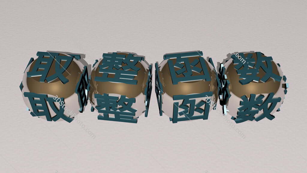 floor and ceiling functions text by cubic dice letters