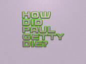 How did Paul Getty die?