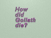 How did Goliath die?