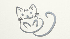 kitten drawing by lines