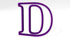letter D made of stars