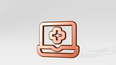 medical app laptop