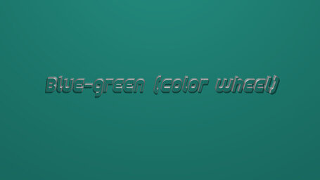 Blue green (color wheel)