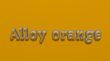 Alloy orange