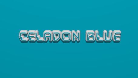 Celadon blue