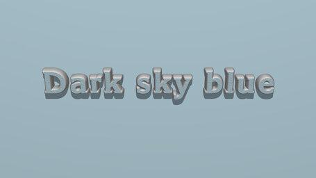Dark sky blue