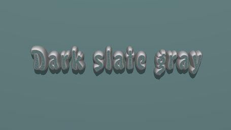 Dark slate gray