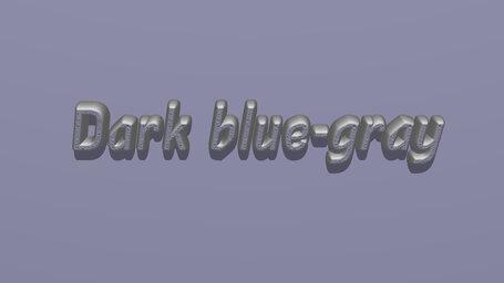 Dark blue gray