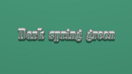 Dark spring green