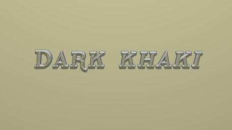 Dark khaki
