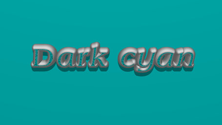 Dark cyan