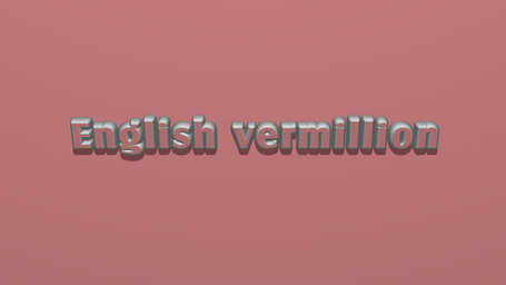English vermillion