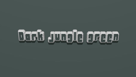 Dark jungle green