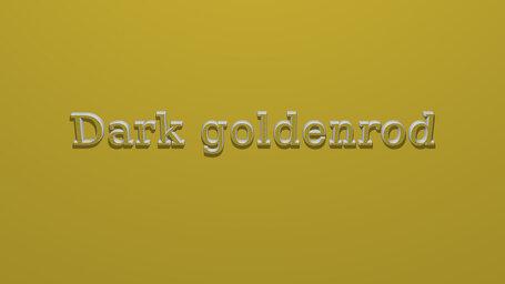 Dark goldenrod