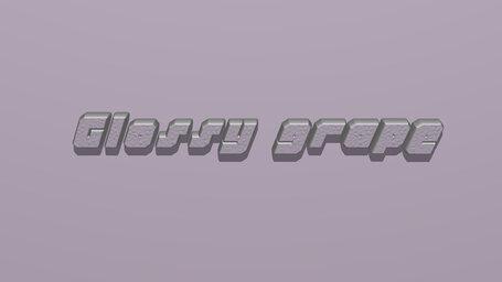 Glossy grape