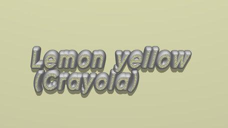 Lemon yellow (Crayola)