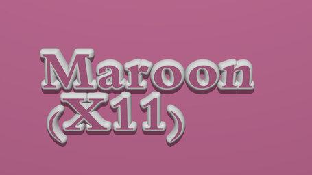 Maroon (X11)