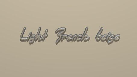 Light French beige