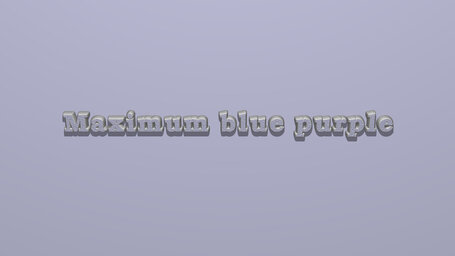 Maximum blue purple
