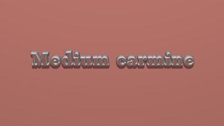 Medium carmine