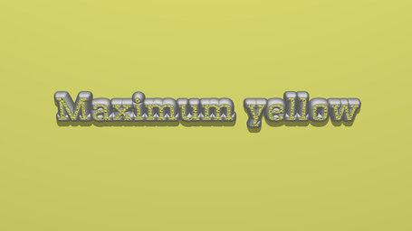 Maximum yellow