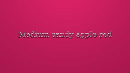Medium candy apple red
