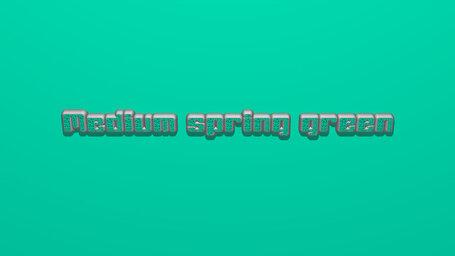Medium spring green
