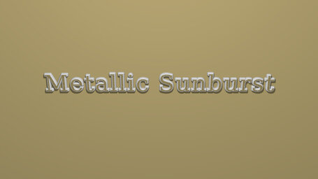 Metallic Sunburst