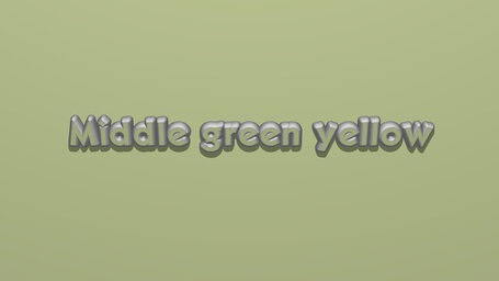Middle green yellow