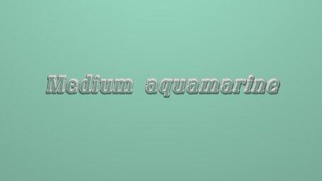 Medium aquamarine