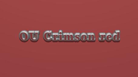 OU Crimson red