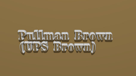 Pullman Brown (UPS Brown)