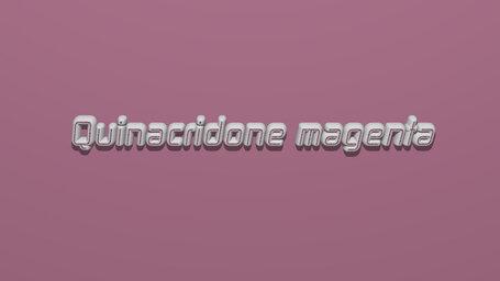 Quinacridone magenta