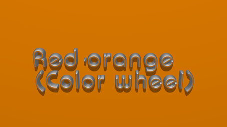 Red orange (Color wheel)