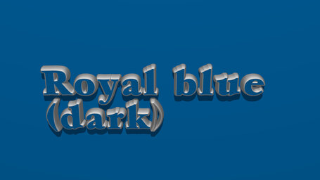 Royal blue (dark)
