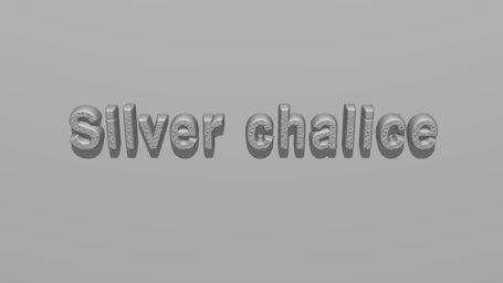 Silver chalice