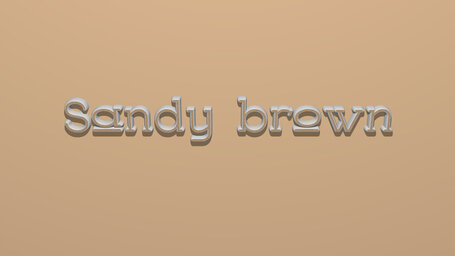 Sandy brown